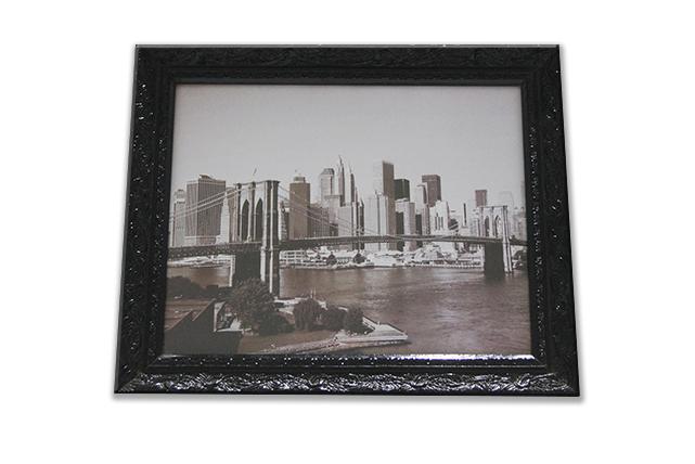 quadro decorativo com gravura NY