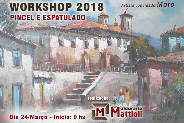 Workshop 2018 Pincel e Espatulado